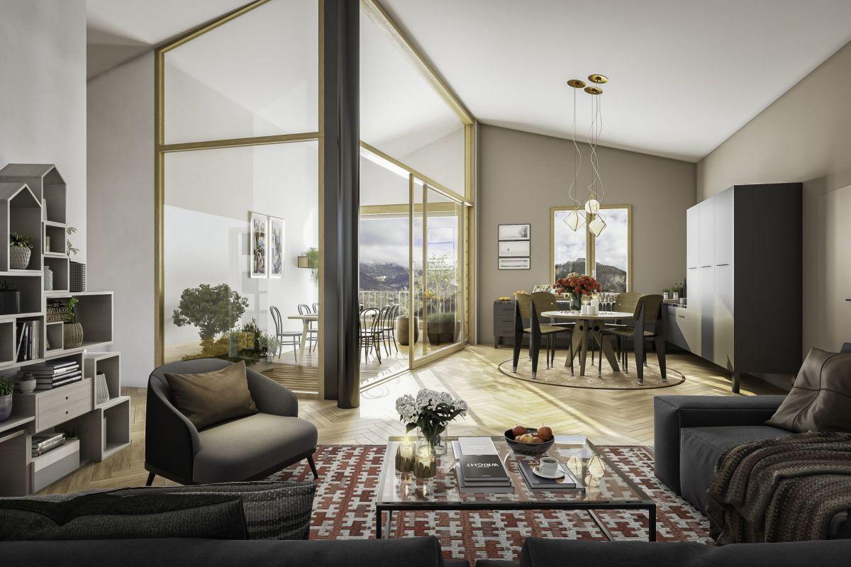 Erdgeschoss Studio Neubau Casa Nido Thusis