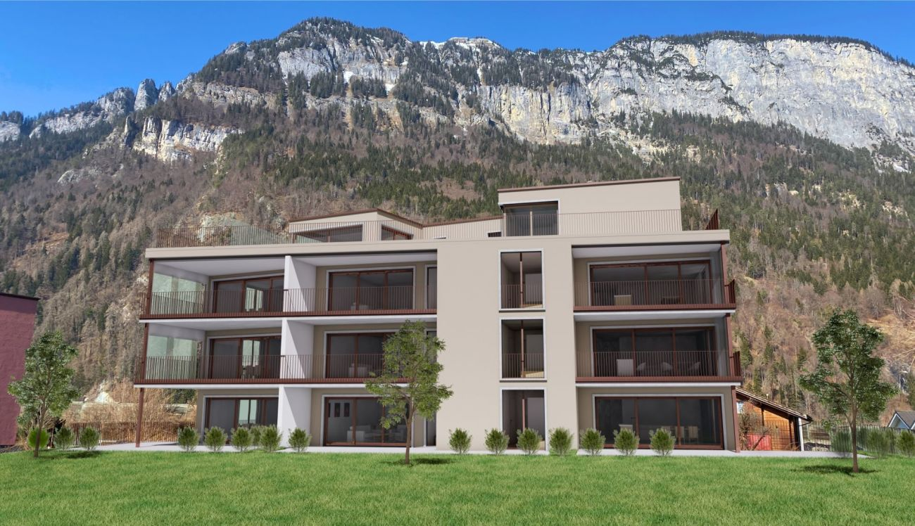 3.5 Zimmer Erdgeschosswohnung Neubau Casa Biala Domat/Ems