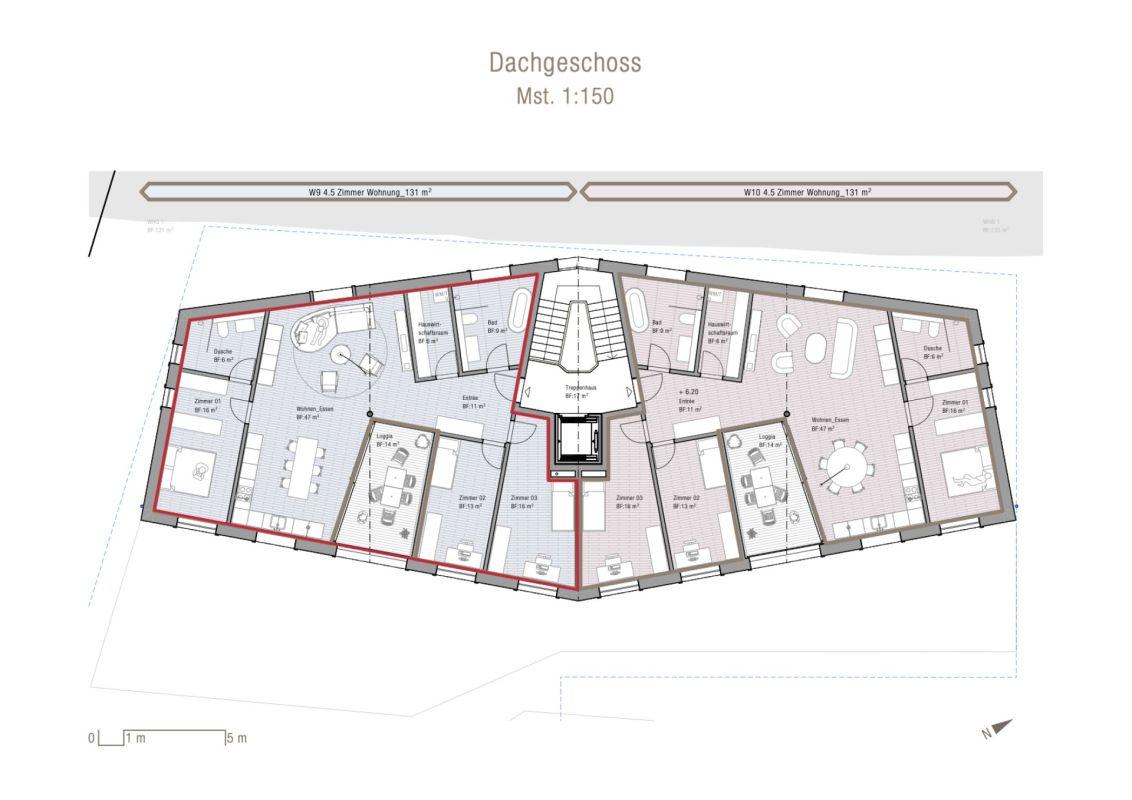 4.5 Zimmer Dachgeschosswohnung Neubau Casa Nido Thusis