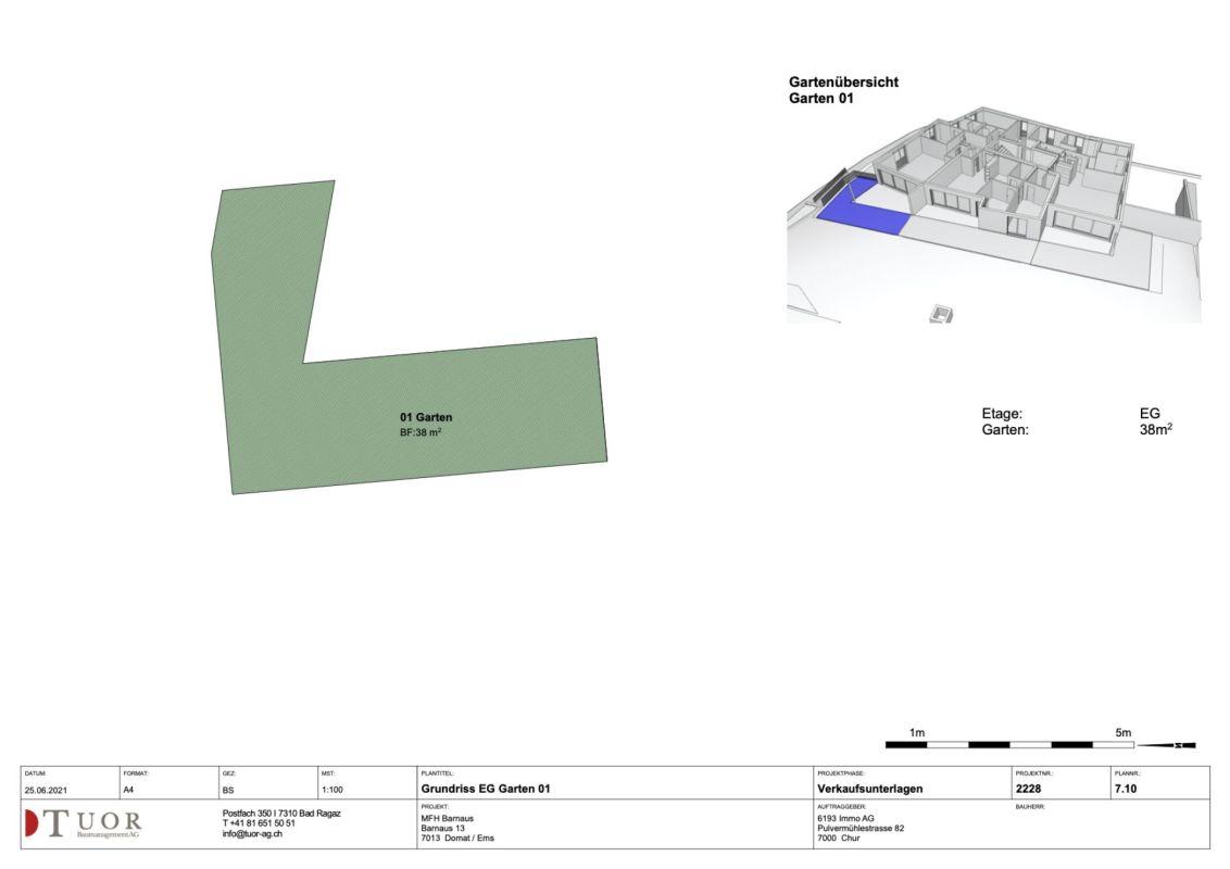 4.5 Zimmer Erdgeschosswohnung Neubau Casa Biala Domat/Ems