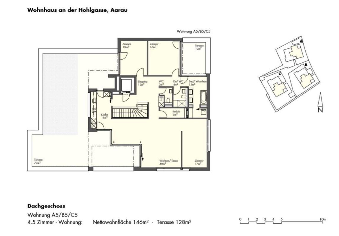 Exklusive 4.5-Zimmer-Attikawohnung in beliebtem Aarauer Wohnquartier
