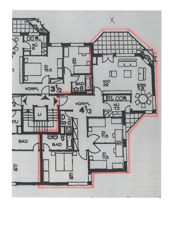 Grösszügige 4.5-Zimmer-Wohnung mit zwei Balkonen zu vermieten