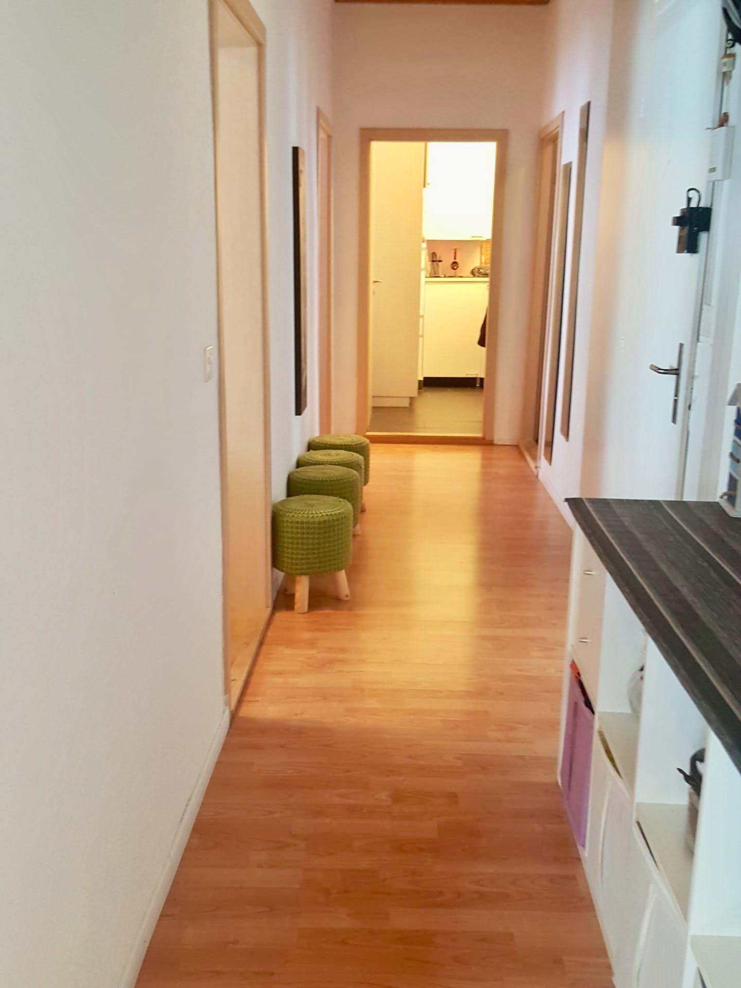 Miete: schöne und grosse Wohnung mit Balkon