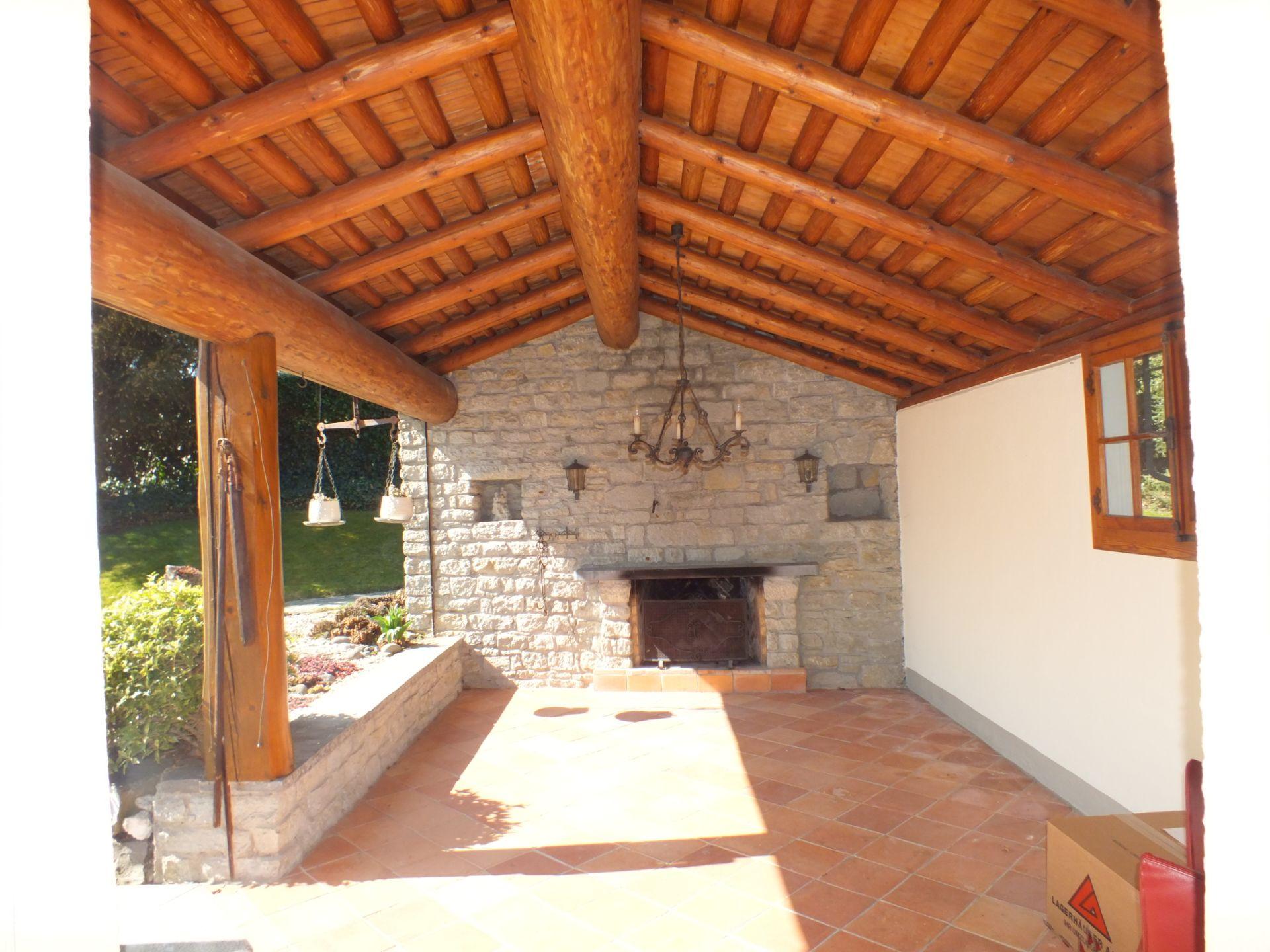 Anbau Gartenhaus mit Cheminée